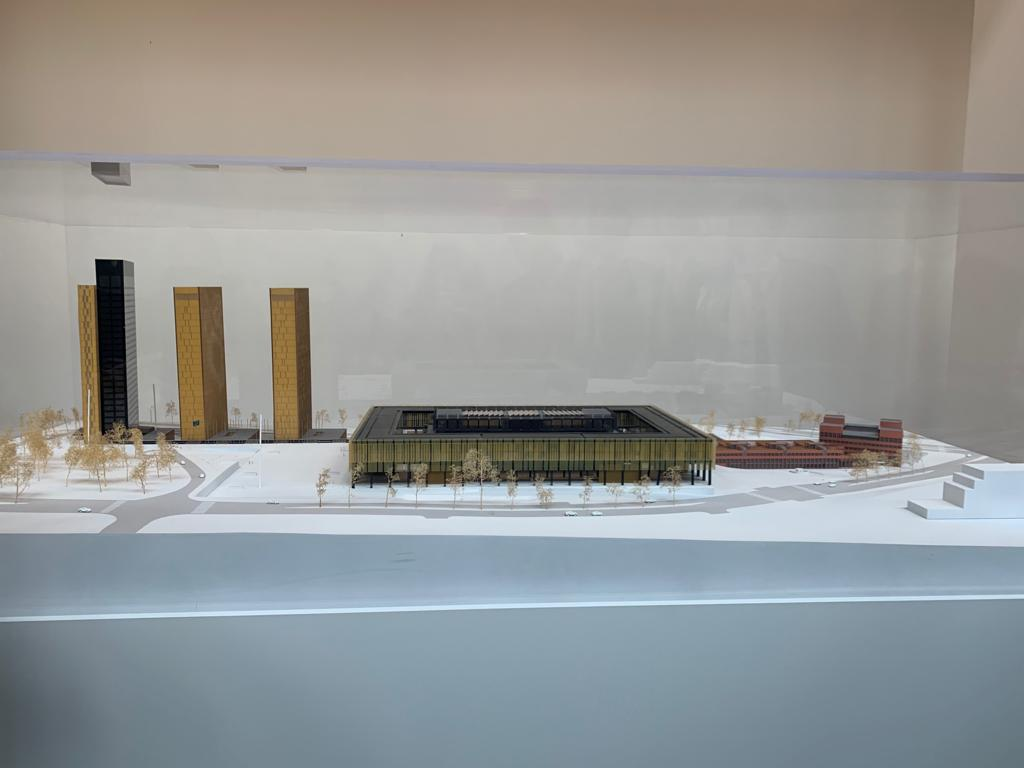Scale model of the building complex of the Court of Justice of the European Union